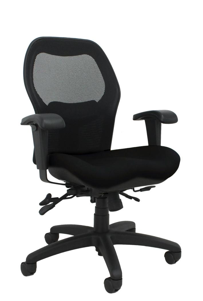Sola LT mesh back chair model V2607 x with jet black fabric