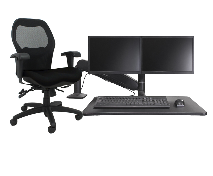 WFH Package B Sola LT with Jet Black fabric and Black Maestro