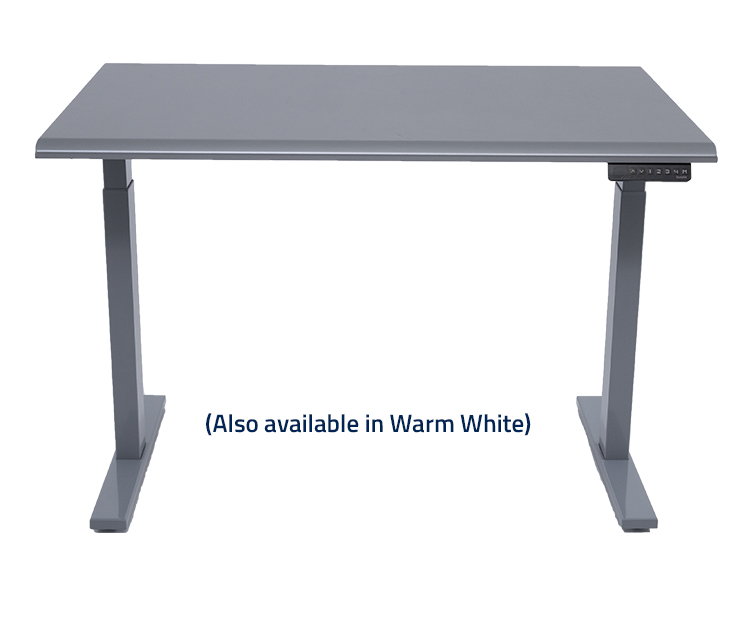 Series 3 Height Adjustable Table Venus Silver Front View