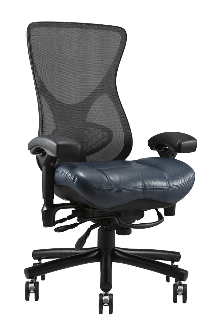 Aircelli 24 7 I2707 Black Mesh Back in Blue Stitched Vinyl Right Angle