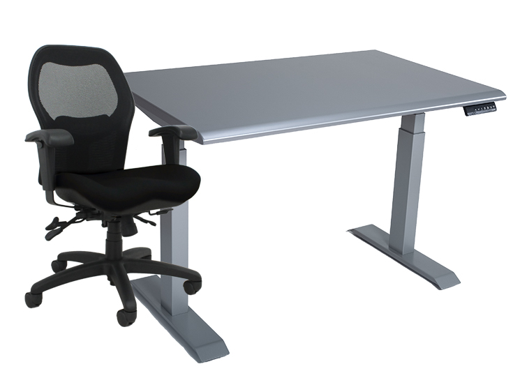 Sola LT and silver height adjustable table