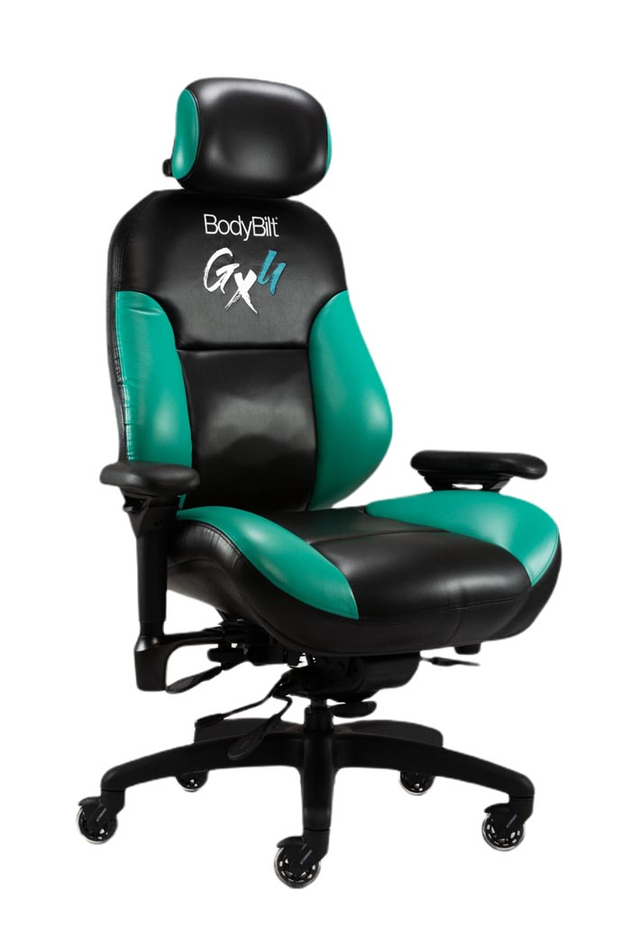 GX4 gaming chair green and black